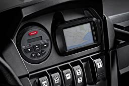 MB Quart Nautic GMR-1 Marine ATV Boat Bluetooth Gauge Receiver + 2) 6.5 Speakers