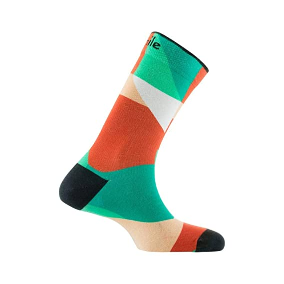 4b839a4e887 Achile - Chaussettes imprimées motif géométrique en coton - couleur - Beige  - Pointure - 39-46  Amazon.fr  Vêtements et accessoires