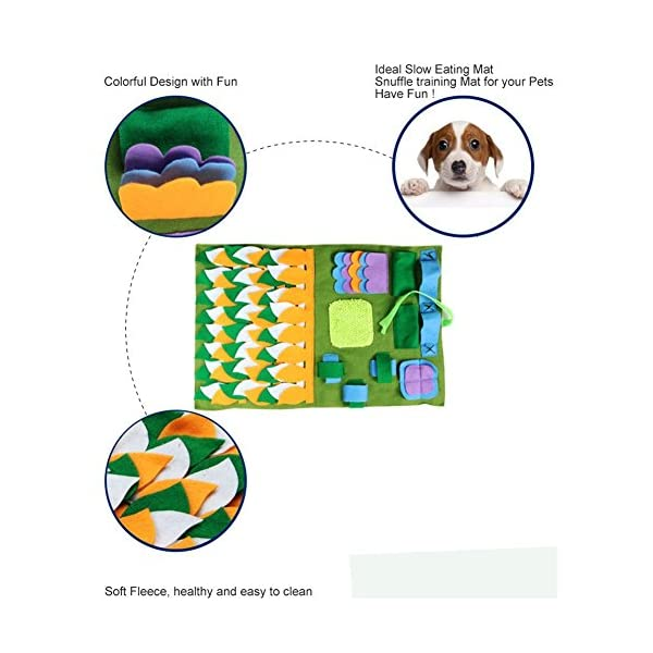IFOYO Dog Feeding Mat, Dog Snuffle Mat Small/large Dog Training Pad Pet Nose Work Blanket Non Slip Pet Activity Mat for Foraging Skill, Stress Release, (S, L, XL) 3