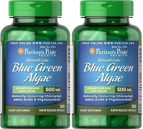 Alga Klamath 500 mg 120 cápsulas. Puritans Pride (Pack de ...