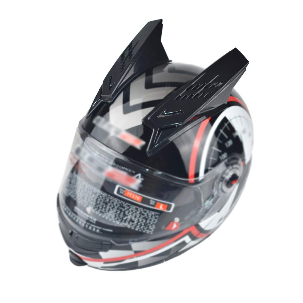 CHCYCLE Motorcycle Helmet Accessories Helmet Horn Decoration Punk Style with 3M Adhesive Stick-on Headwear Accessories for Adults