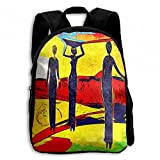 Africa Women Retro Vintage Style Student School Backpacks Canvas Book Bag Casual Daypack Travel For Children