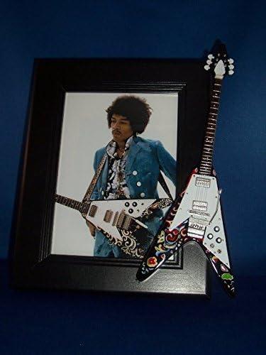Jimi Hendrix Psychedelic V guitarra marco de fotos: Amazon.es: Hogar