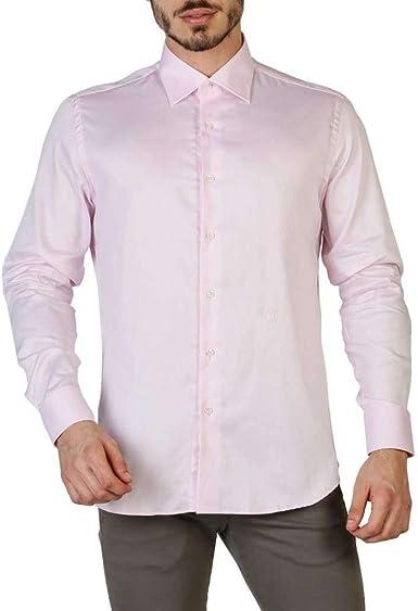 Trussardi 32C20SINT Camisas Hombre Rosa 45: Amazon.es: Ropa y accesorios