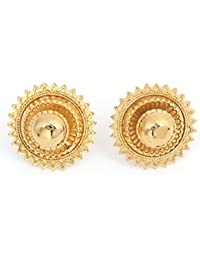 Ethiopian Earring Stud Silver Plated And Gold Plated 1cm And 2cm Earring For Girls