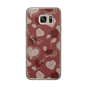 Loud Universe Samsung Galaxy S7 Love Valentine 19 Files Happy Valentine Day Printed Transparent Edge Case - Red/White