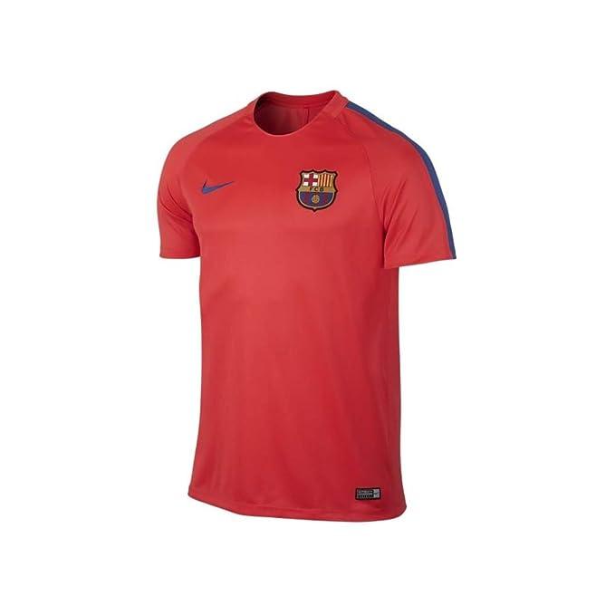 Nike FCB M Nk Dry SS Sqd Camiseta Manga Corta de la línea FC ...
