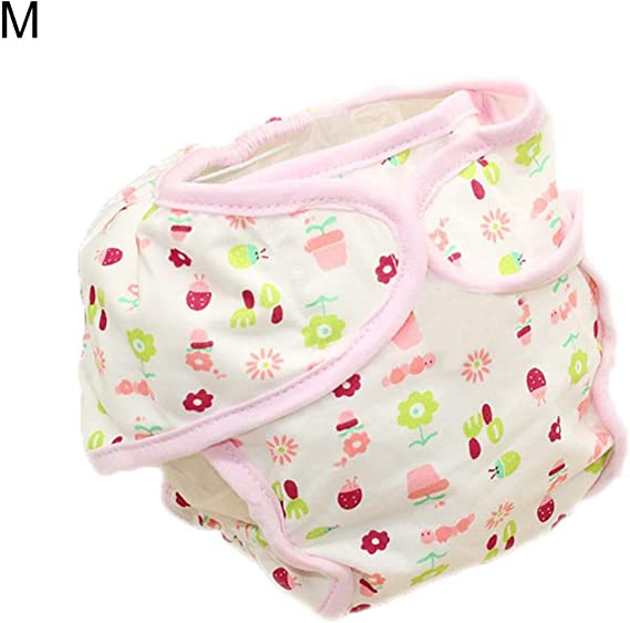 Goodtimes28 - Pañales de algodón Reutilizables para bebé, pañales Lavables, Ropa Interior, Talla S, diseño de Peces, algodón, Beetle Flower M, 1: Amazon.es: Hogar