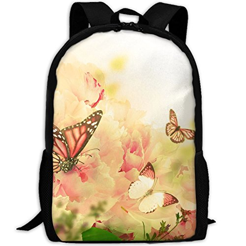CY-STORE Butterflies Monarch Butterfly Animals Print Custom Casual School Bag Backpack Travel Daypack Gifts by CY-STORE