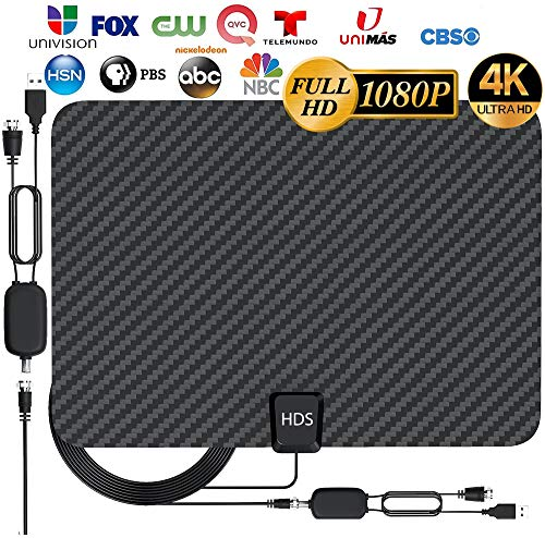 [Latest 2020] HDTV Digital Antenna 4K 1080p - 120 Mile Range