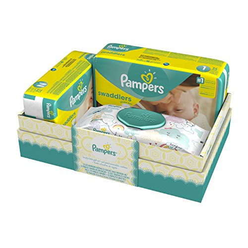 Pampers Swaddlers Diapers and Sensitive Wipes Gift Box by Pampers