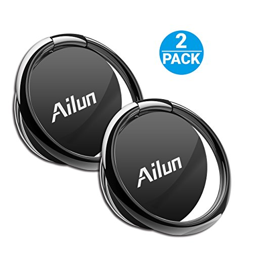Ailun Phone Ring Stand Holder 2Pack Compatible with iPhone X 8 7 6 6s Plus Galaxy S9 S8 Plus S7 S7 Edge S6 S6 and More Universal 360