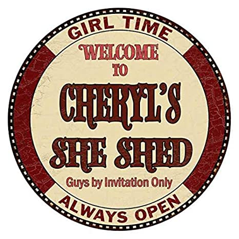 Chico Creek Signs Cheryl S She Shed 14 Personalized Round Metal Sign Wall Decor 100140044062