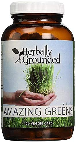 Amazing Greens by Herbally Grounded, 100 Veggie Capsules, 180 Capsules, Antioxidant
