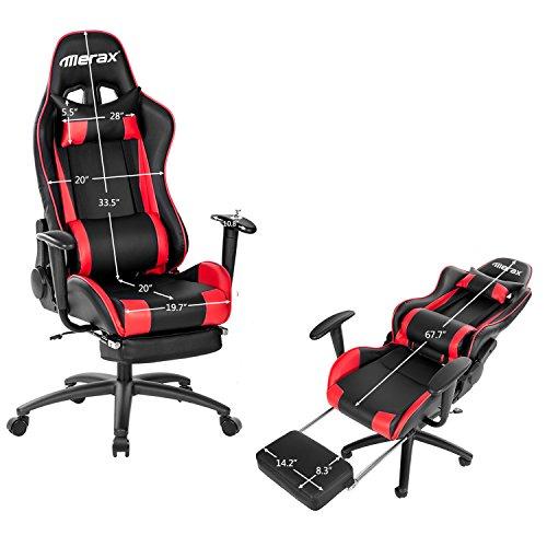 Merax Racing Style High Back Gaming Chair Ergonomic Design