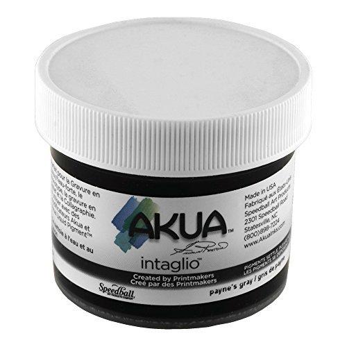 Akua Intaglio Print Making Ink, 2 oz Jar, Paynes Gray (IIPA2)