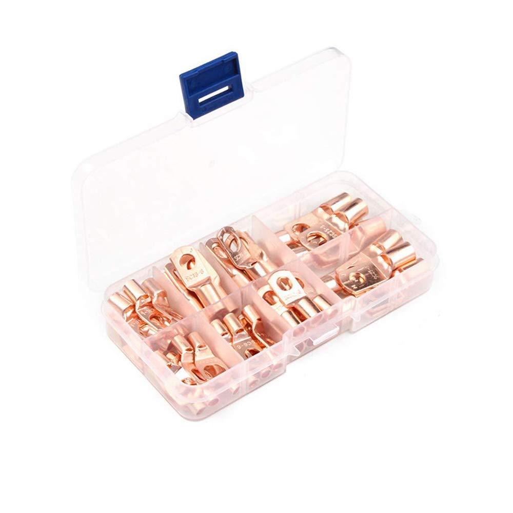 Tinned Copper Ring Terminal Sealed Battery Wire Connector Crimp Welding Terminal Kit 80Pcs
