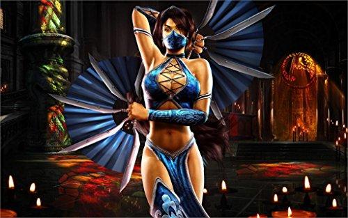 Twenty-threePrincess Sexy Mortal Kombat Kitana 24X36 Inch Poster Print 4