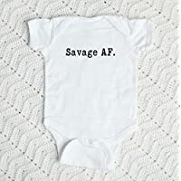 Savage AF Baby Bodysuit, Custom Baby Shower Newborn Gift, Toddler T Shirt