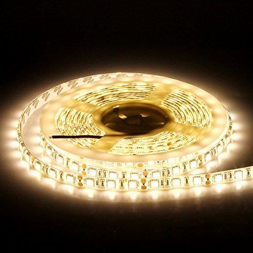 SUPERNIGHT LED Light Strip Cool White 7000K 16.4ft SMD 5050 300leds Flexible Rope Lighting (Warm White)