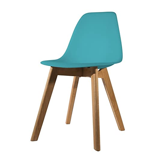 Chaise scandinave coque polypropylène Jaune: Amazon.fr: Cuisine ...