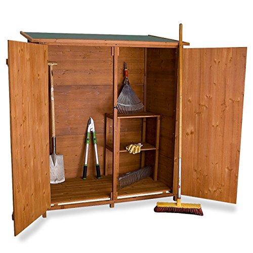 Rotfuchs® Geräteschuppen Holz XXL cm Gerätehaus Gartenschuppen Geräteschrank