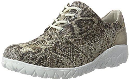 Waldläufer Havy, Zapatos de Cordones Derby para Mujer Mehrfarbig (capp. Lgold (LS weiß)
