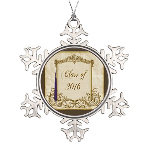 Elegant Christmas Decorating Ideas - Personalised Christmas Tree Decoration Beautiful Elegant Gold Frame with Purple Tassel Customized Christmas Snowflake Ornaments Tassel