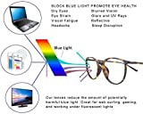 Computer Glasses for Women Blue Blocking Round Light Weight Comfortable Fit Anti Eye Strain Anti Glare UV 400