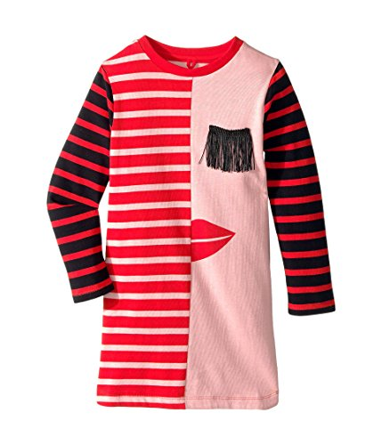Stella McCartney Kids Baby Girl's Kora Striped Dress w/ Fringe Eyelash Detail (Toddler/Little Kids/Big Kids) Pink 4T by Stella McCartney Kids