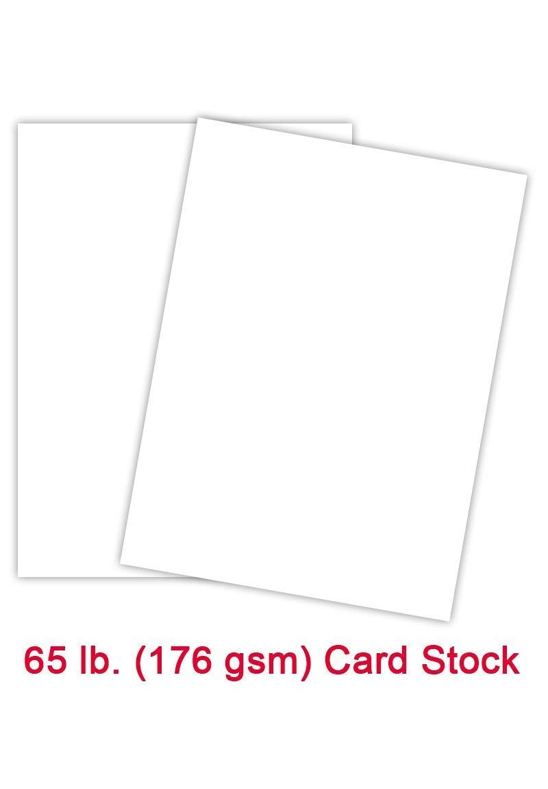 Premium Color Card Stock Paper | 250 Per Pack | Superior Thick 65-lb Cardstock, Perfect for School Supplies, Holiday Crafting, Arts and Crafts | Acid & Lignin Free | Bright White | 8.5 x 11
