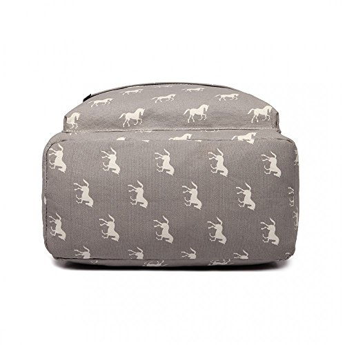 The Olive House Scarves, Borsa a zainetto donna grigio Grey Taglia unica