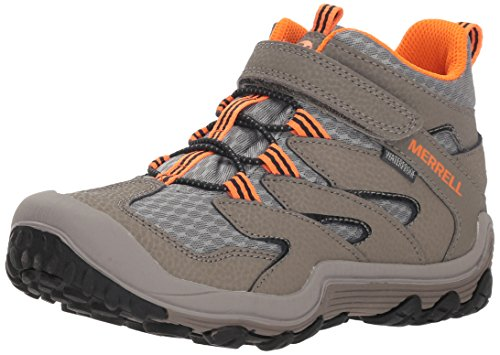 Merrell Boys' Chameleon 7 Access Mid A/C WTRPF Hiking Shoe, Gunsmoke, 5.5 Medium US Big Kid