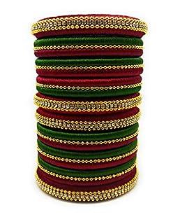Sai Maroon Handmade Silk Thread Bangle For Women's