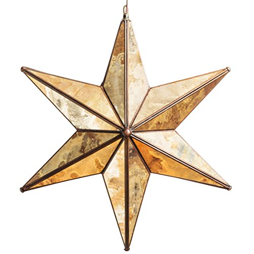 18 Inch Glass Star Light (18 Inch 6 Pointed Antique Mirror) by Hometown Evolution, Inc.