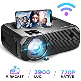 Bomaker Wi-Fi Projector, Wireless Screen Mirroring and Cast Screen TV Projector, HD Portable