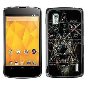 LOVE FOR LG Nexus 4 E960 Witch Rock Metal Heavy Pentagram Black Dark Personalized Design Custom DIY Case Cover
