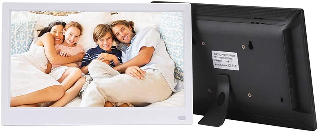 WW/&C Digital Picture Frame 11.6 Inch IPS Display and High Resolution 1920/×1080 Digital Photo Frame with Calendar,Time and Remote Control,White
