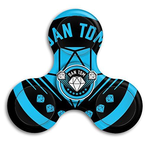 Dantdm Logo Edc Tri Fidget Spinner Hand Spinner Finger Spinner