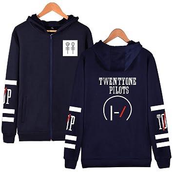 588ead851 JJZHY Sweat zippé à Capuche Twenty One Pilots Band Fashion pour Homme et  Femme