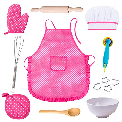 Anika's Crafts Kids Pretend Role Play Set (Apron Set) Pink ()