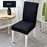 Bar Stools for Sale Near Me ASMGroup Black Polyeater Elastic Dining Stretch Chair Cover Removable Anti-Dirty Party Hotel Banquet Chair Seat Case