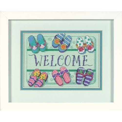 Dimensions Needlecrafts 06978 Counted Cross Stitch, Welcome Mat ()