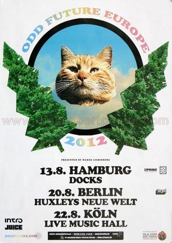 Odd Future - Europe 2012 - Concert Poster Plakat