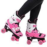 Loch Children's Roller Skates Girls' Adjustable Quad Boots 10/11/12/13 UK | 28-31 EU