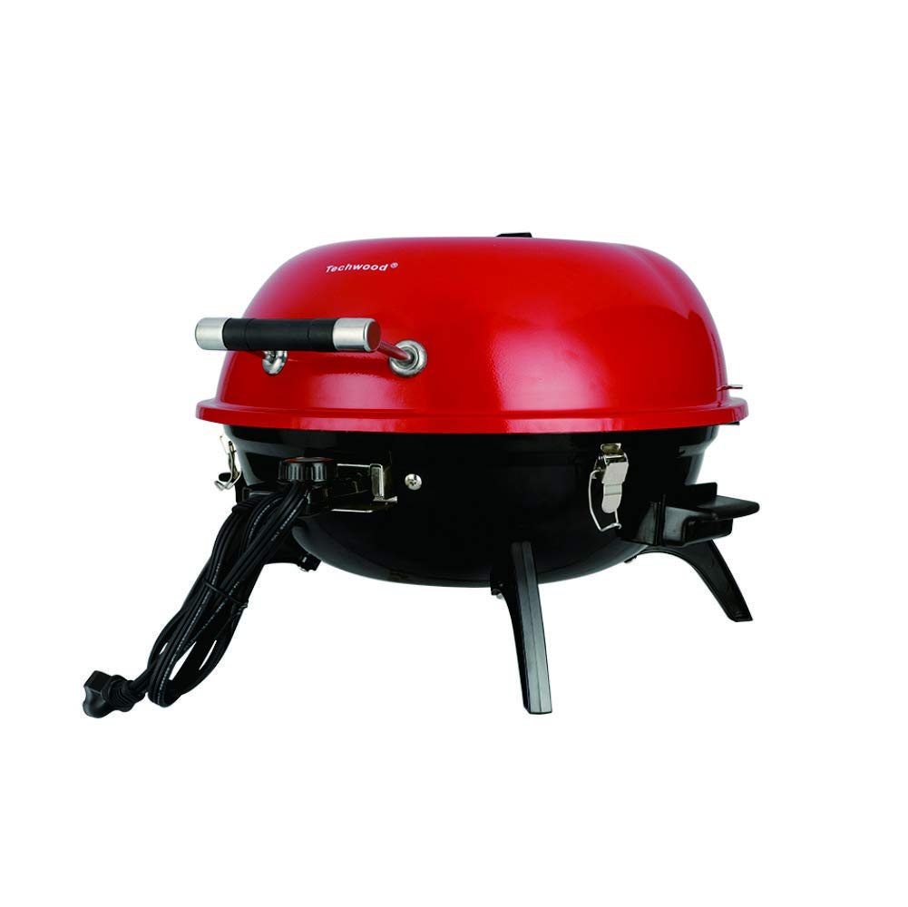 Techwood Electric Round Portable Home Barbecue Grill