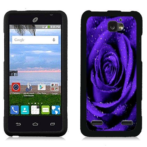 URAKKI Purple Rose Design Slim Fit Hard Case Phone Cover for ZTE Sonata 2 Z755 / Zephyr Z752C / Paragon Z753G
