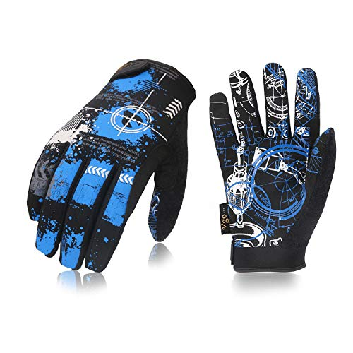 Vgo 3 Pairs High Dexterity Light Duty Antislip Mechanic Glove (Size XL, Blue, SL8690) ()