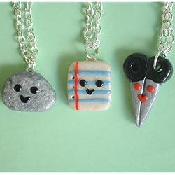 Rock, Paper, Scissors Best Friend Necklaces