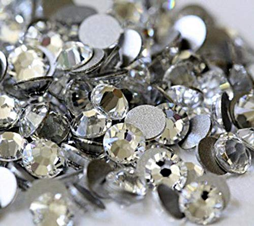 Raflesa Clear - Crystal Glass Rhinestones Flatback High Quality no hotfix Size SS6 SS10 SS12 SS16 SS20 SS30 Wholesale Pack Lot(Ss12 1440 Pieces) from Raflesa